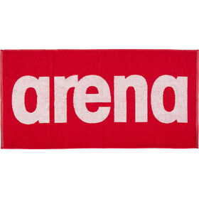 arena Gym Soft Handdoek, red-white